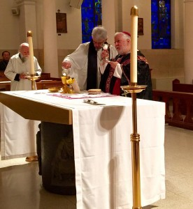 Dom. James presiding at Requiem Mass